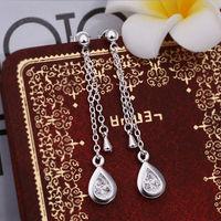 Wholesale! 925 Sterling silver earring. high quality silver fashion jewelry. 925 silver fine zircon for women earrings E386