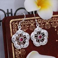 Wholesale! 925 Sterling silver earring. high quality silver fashion jewelry. 925 silver fine zircon for women earrings E393