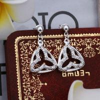 Wholesale! 925 Sterling silver earring. high quality silver fashion jewelry. 925 silver fine zircon for women earrings E396