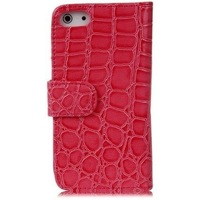 Free Shipping, Crocodile Wallet pu Leather Case Cover For iPhone 5 5S