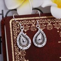 Wholesale! 925 Sterling silver earring. high quality silver fashion jewelry. 925 silver fine zircon for women earrings E381