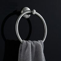 SUS 304 Stainless steel Round Wall-Mounted Bathroom Towel Holder Towel Rings Towel Racks xg03