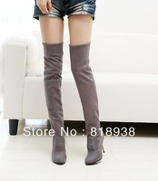 Boots over-the-knee 25pt platform spring and autumn boots pointed toe women's shoes single boots plus size elastic