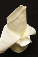 Ivory  Polyester Plain Napkin 50x50cm ,Table Napkin For Weddings Events &Party&Restaurant &Hotel