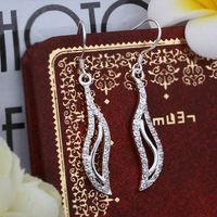 Free Shipping Wholesale Price Can Custom Hand Made Fashion Jewelry 925 Silver Earrings Jewelry fine zircon earring E375