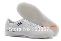 cheap retail men CR7 Cristiano Ronaldo IX 9 Drogba Ibrahimovic Pato soccer cleats football shoes IC Indoor footwear 5 colors