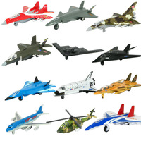 Alloy fighter model helicopter jetliner acoustooptical WARRIOR toy