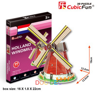 HOLLAND WINDMILL & DIY 3D PUZZLE MODEL & SPECIAL TOY AND GIFT FOR CHILDREN-FREE SHIPPING
