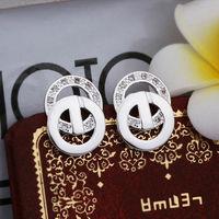 Wholesale! 925 Sterling silver earring. high quality silver fashion jewelry. 925 silver fine zircon for women earrings E399