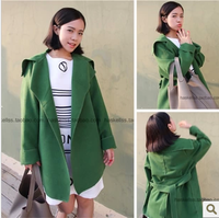 Cocoa 2013 fashion elegant slim long-sleeve woolen outerwear female trench overcoat