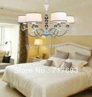 Free shipping Modern simple European  chandelier  lighting Livingroom lamp  six lights
