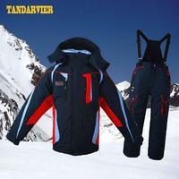 Child ski suit set male child boy ski suit thermal windproof outdoor jacket