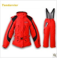 Child ski suit set professional outdoor cold-proof thermal windproof ski suit girl outdoor jacket