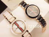Ms rose gold contracted bracelet wrist watch fashion leisure women watch Fashion brand ceramic watches Fashion watches