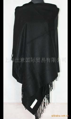 Free shipping Black Fashion Women's Plain Cashmere Shaw Scarf Wrap embroidery Wholesale and Retai SW038(China (Mainland))