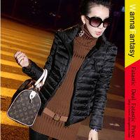Women's Padded Coat 2013 New Korean High Necked Coats Women Short Slim Down Coats Padded Coats