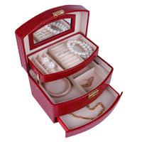 Birthday princess fashion wedding gift jewelry box automatic holders for jewelry free shipping