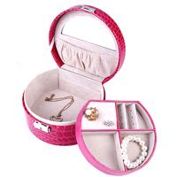 Luxury leather jewelry storage box/bracelet holder Gift box for girl free shipping