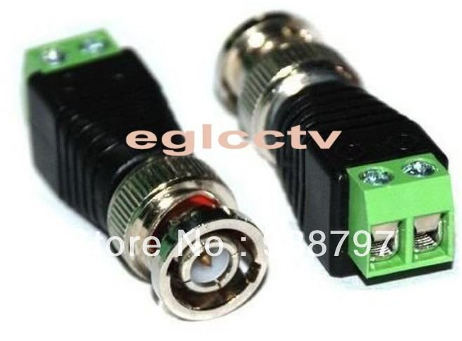 50 x Coax CAT5 To Camera CCTV BNC Video Balun Connector EA001(China (Mainland))