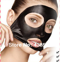 10PCS/LOT Deep Cleansing purifying peel off the Black head acne treatment black mud face care mask