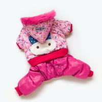 Free Shipping pet dog pink cute rabbit jumpsuit pet clothes dog clothing dog winter coat XS,S,M,L,XL