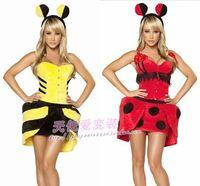 Halloween dog puff skirt yellow bees cat women's ds costume