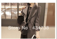 Fashionable skinny Korean long coat,Pocket style double breasted or V-Lapel coat Jacket/wind coat/Clothes Women, fasion overcoat