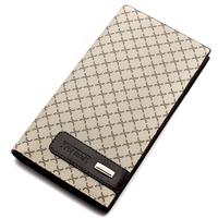 Wallet male long design short elegant design card holder plaid wallet