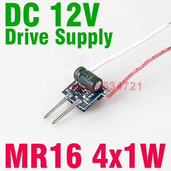DC12V 4x1W Drive Two and Two String Driver for  MR16 LED Constant Current Drive Built-in Supply Drive Free Shipping