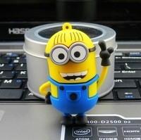 Free shipping New Pendrive Minions USB 2.0 Flash Drive 2GB 4GB 8GB 16GB 32GB Despicable Me 2 Pen drive Memory stick U Disk