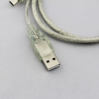 HOT-2013NEW,USB 2.0 Y Cable for External Hard Drive A male to A male 2A 5 pin usb y split cable,Free shipping