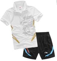 wholesale! free shipping LI-Ning TJ93 New Women / Men Table Tennis / Badminton / Table Tennis shirt + shorts