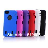 Hybrid PC + Silicone 3 in 1 Defender Robot Case For iPhone 5C, 10Pcs/Lot Free Shipping