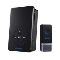 Free shipping Quhwa doorbell wireless doorbell black fashion nice big mp3 doorbell