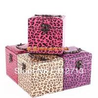 New Arrival,Luxury modern leopard print leather jewelry storage box stand jewelry box jewelry leather