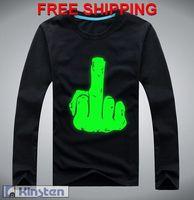 Flippin' the Bird Sweatshirt with glow in dark Christmas sweaters gift fluorescence 3D print logo Freeshipping