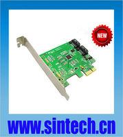 PCI-e Express SATA 3 III (6Gb/s) RAID Controller adapter Card,chipset Marwell 88SE9170