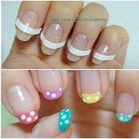 Nail Art Toiletry Kit Nail Art Tool French Manicure Tip Guides Nail Art Sticker Nail Polish Supplies 48pcs/set