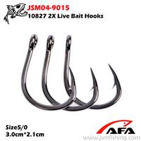 Size4/0*100pcs 10827 stainless steel sea hooks JSM04-9015
