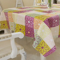 Variety can be customized rectangular PVC plastic tablecloths pastoral style tea table
