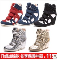 Modeling ! elevator 5cm high sports casual shoes ankle boots female