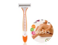 New Arrive Hot Wholesale 10PCS/Lot Tri-Blade Razor For Women Free Shipping