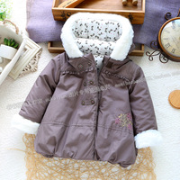 New arrival winter children's clothing ploughboys 100% cotton wadded jacket girls outerwear top thermal outerwear