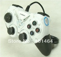Sensitive Key!Computer Game Controller USB GamePad Double Shock Game pad Joystick Joypad  with Retail Package