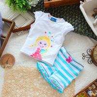 Children's clothing short-sleeve T-shirt shorts summer set