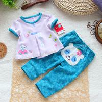 Baby summer skirt set fashion female child set t-shirt skirt top trousers children's clothing