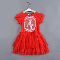 free shipping baby girls' christmas hot pink/red lovely dress child b2w2 brand tulle dress