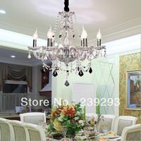 Free Shipping 110-240V 6 Lights Indoor K9 Crystal Chandelier Lighting Parlour Light Bedroom Light D58CM Size Height Ajustable