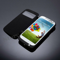 Ultra Silm 3200mAh External Backup Battery Charger Case For Samsung Galaxy S4 S IV I9500+Flip leathe Cover Emergency Power Bank