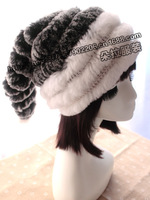 Free Shipping from Manufactory Genuine fur knitted hat Beanie Many Colors Winter Female Cap OEM Wholesale Retail